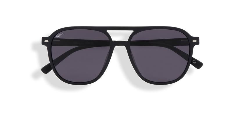 Gafas de sol hombre LUC negro - vista de frente