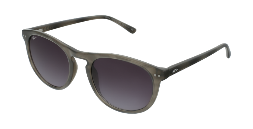 Gafas de sol hombre GUILLAUME blanco/gris - vue de 3/4