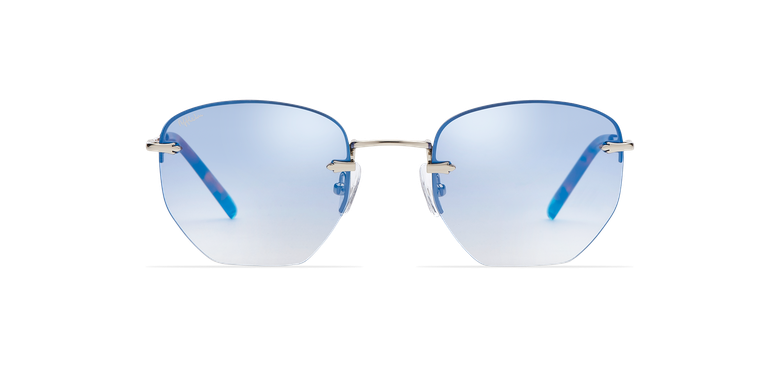 Gafas de sol mujer JENNA azul/plateadovista de frente