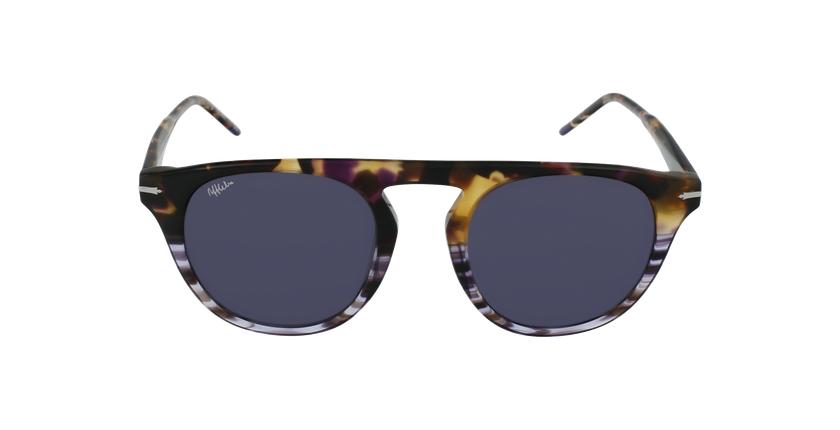 Gafas de sol hombre LANE carey/morado - vista de frente