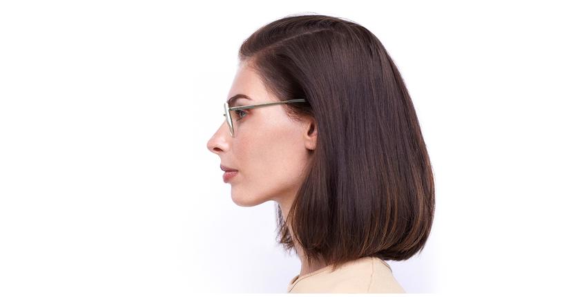 Gafas graduadas mujer ERIN blanco - vista de lado