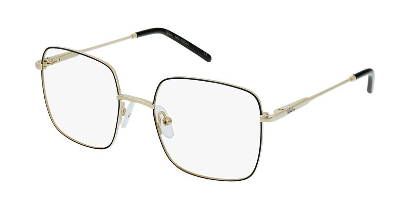 Gafas graduadas niños STELLA negro/dorado - vue de 3/4