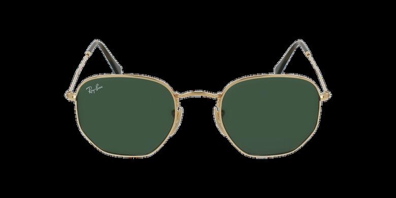 Gafas de sol HEXAGONAL doradovista de frente