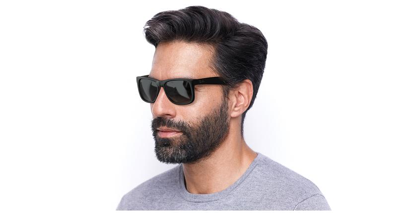 Gafas de sol hombre JUSTIN negro/negro - vue de 3/4