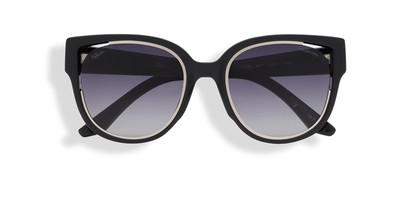 Gafas de sol mujer MAHEA POLARIZED negro/plateado - vista de frente