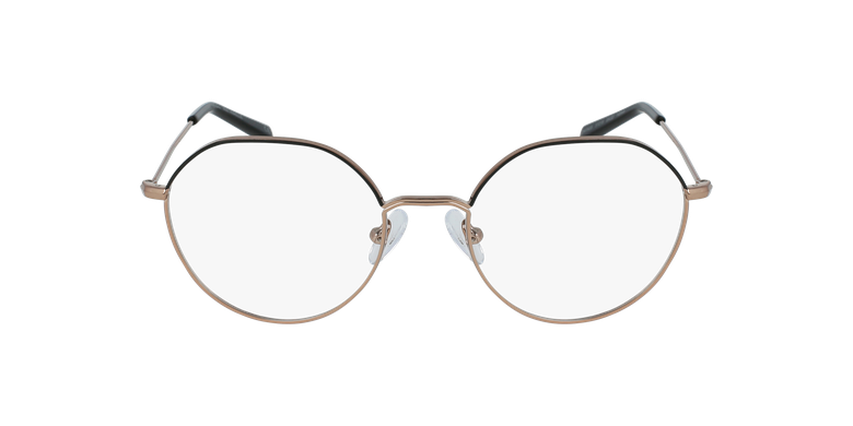 Gafas graduadas mujer ANAELLE negro/doradovista de frente