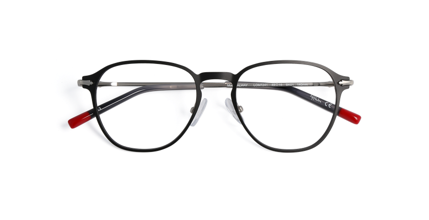 Gafas graduadas hombre GALWAY negro - vista de frente