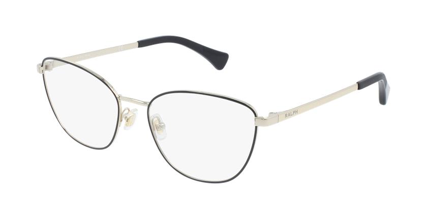 Gafas graduadas mujer RA6046 negro/dorado - vue de 3/4