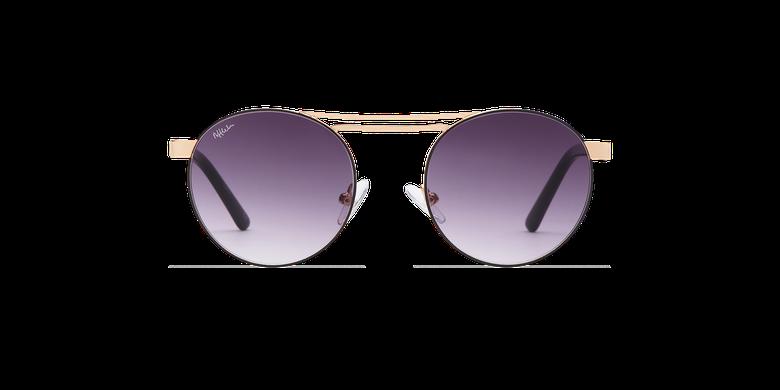 Gafas de sol mujer ROMY negro/doradovista de frente