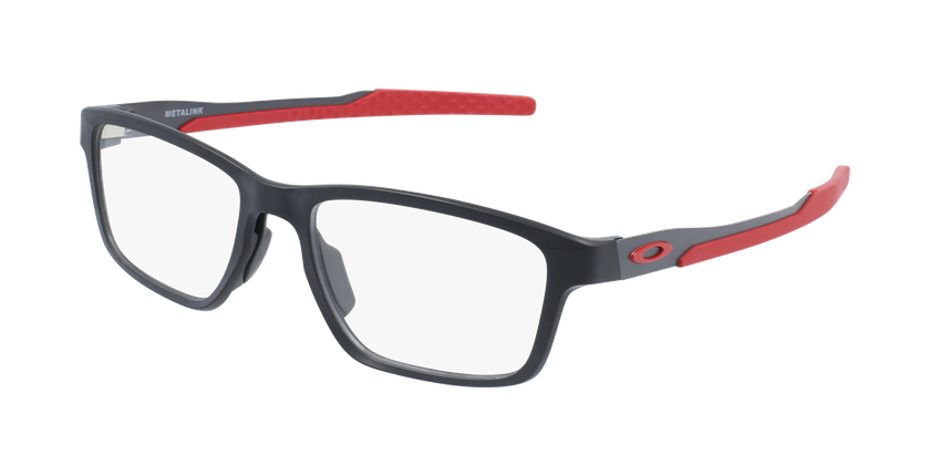 Gafas graduadas hombre 0OX8153 negro/rojo - vue de 3/4
