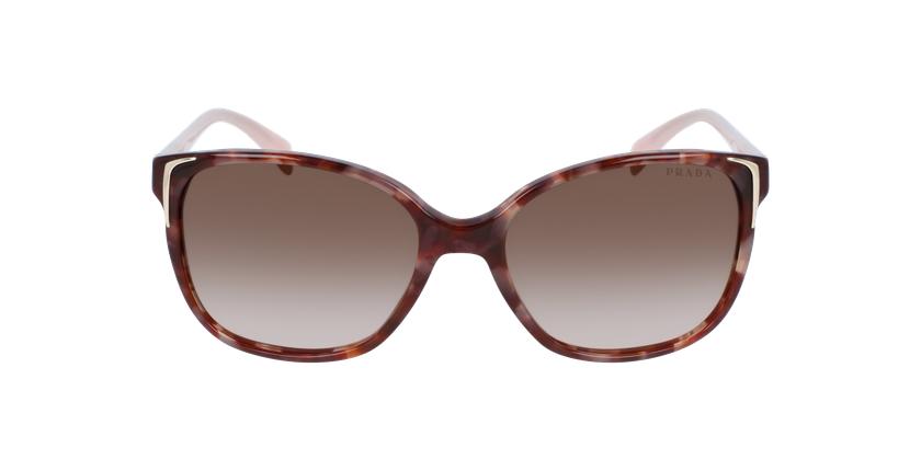 Gafas de sol mujer 0PR 01OS marrón/rosa - vista de frente