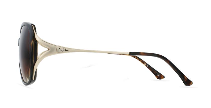 Gafas de sol mujer ROSALES carey/dorado - vista de lado