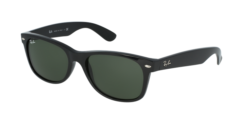 Gafas de sol hombre NEW WAYFARER negro/negro - vue de 3/4