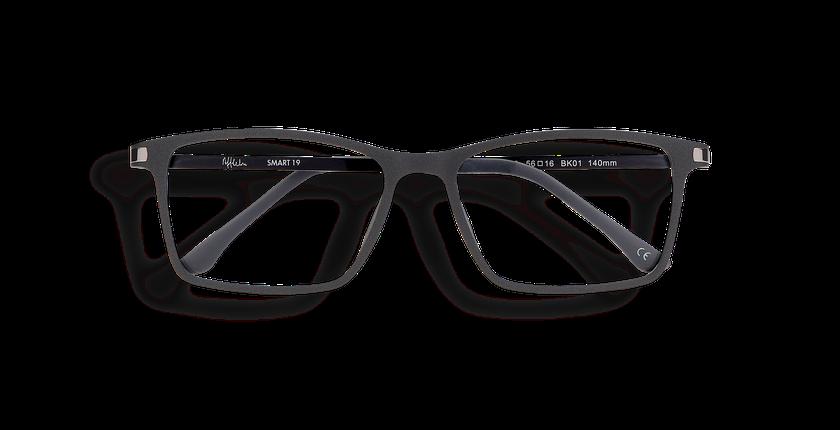 Gafas graduadas hombre MAGIC 19 negro - vista de frente