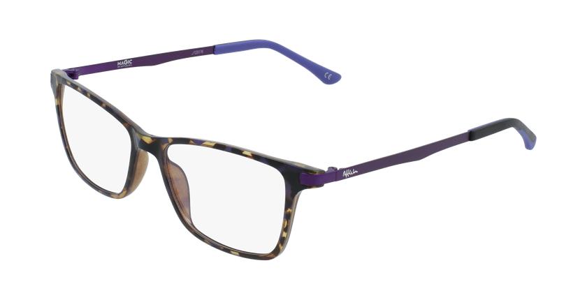 Gafas graduadas mujer MAGIC 61 BLUEBLOCK carey/morado - vue de 3/4