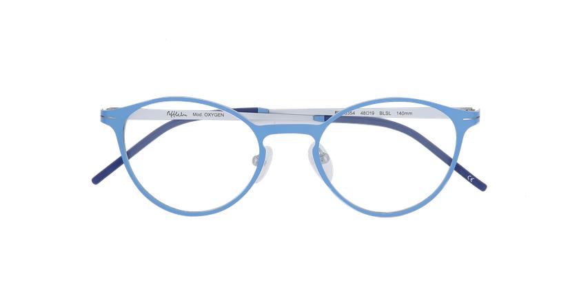 Gafas graduadas mujer OXYGEN azul/plateado - vista de frente