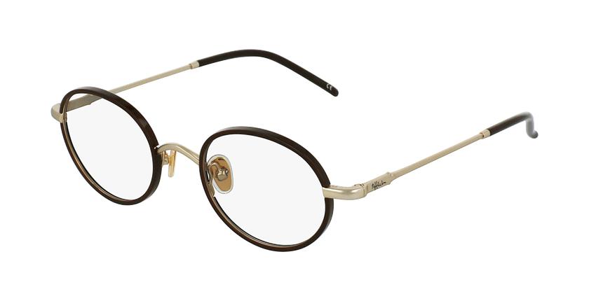Gafas graduadas PUCCINI dorado/rojo - vue de 3/4