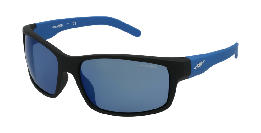 Gafas de sol hombre FASTBALL azul/negro - vue de 3/4