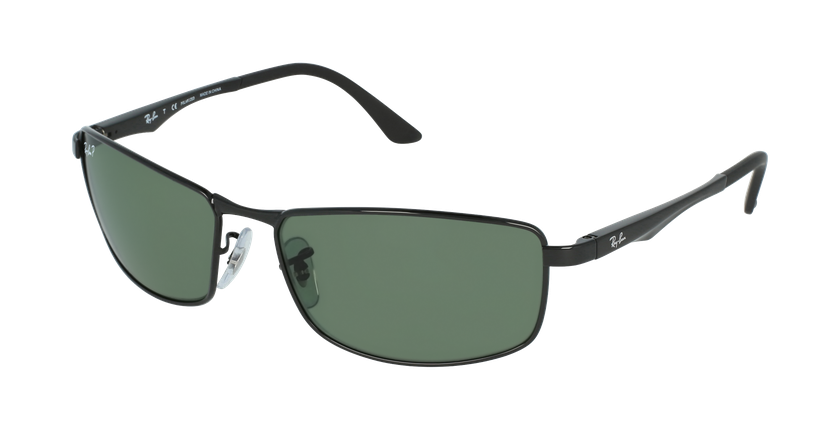 Gafas de sol hombre 0RB3498 negro - vue de 3/4