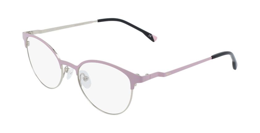 Gafas graduadas mujer MAGIC 54 BLUEBLOCK rosa/dorado - vue de 3/4