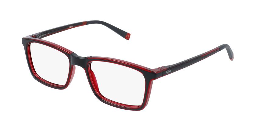 Gafas graduadas niños RFOC1 negro/rojo - vue de 3/4