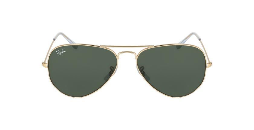 Gafas de sol AVIATOR LARGE METAL dorado/negro - vista de frente