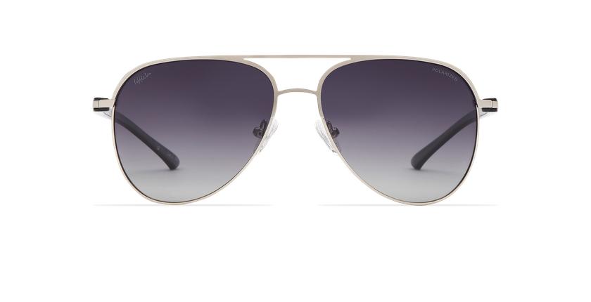 Gafas de sol MIAMO POLARIZED plateado/negro - vista de frente