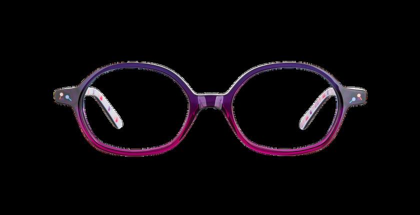 Gafas graduadas niños FLUFFY1 morado - vista de frente