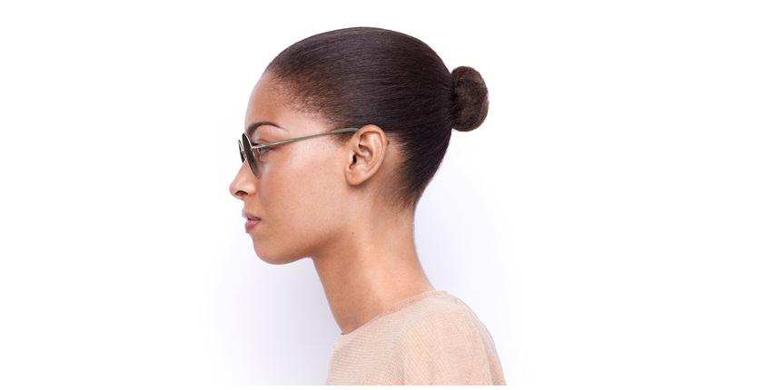 Gafas de sol mujer BETSY dorado - vista de lado
