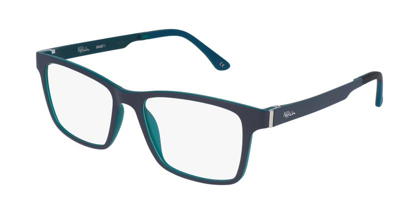 Gafas graduadas hombre MAGIC 01 gris/gris oscuro mate / azul petróleo - vue de 3/4
