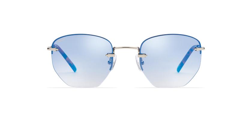 Gafas de sol mujer JENNA azul/plateado - vista de frente