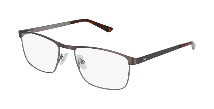 Gafas graduadas hombre GUIDO gris/plateado - vue de 3/4