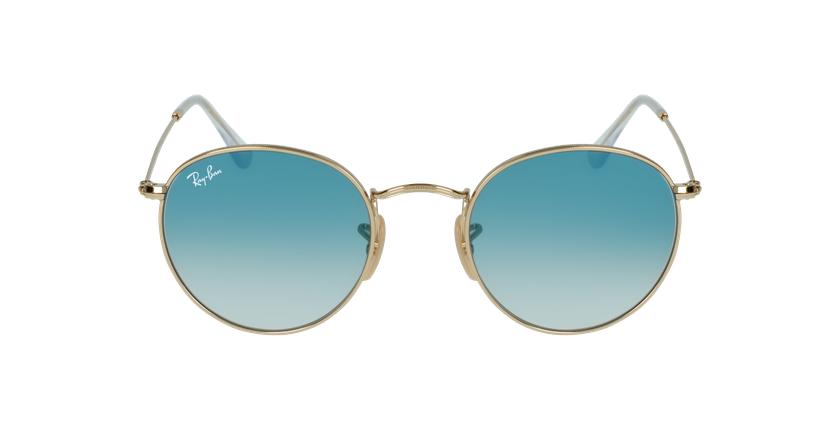 Gafas de sol ROUND METAL dorado/azul - vista de frente