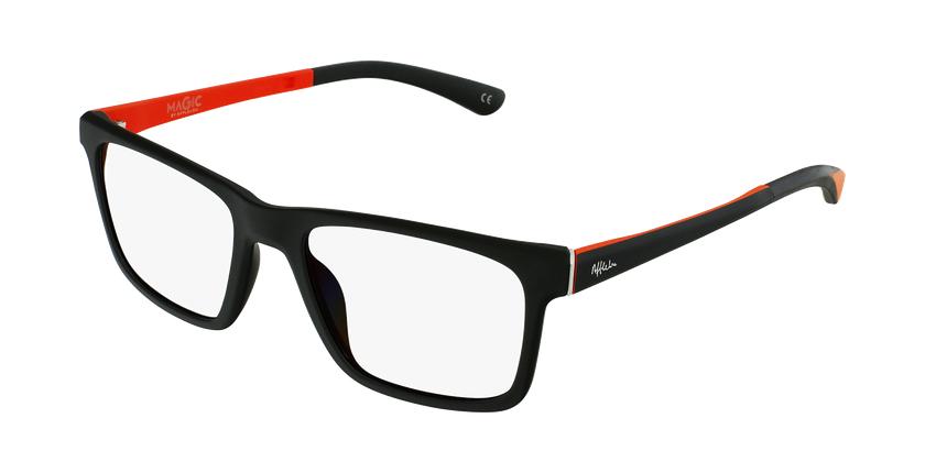 Gafas graduadas niños MAGIC 64 negro/naranja - vue de 3/4