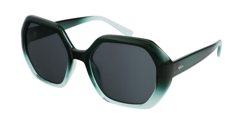 Gafas de sol mujer FAURA verde/negro - vue de 3/4