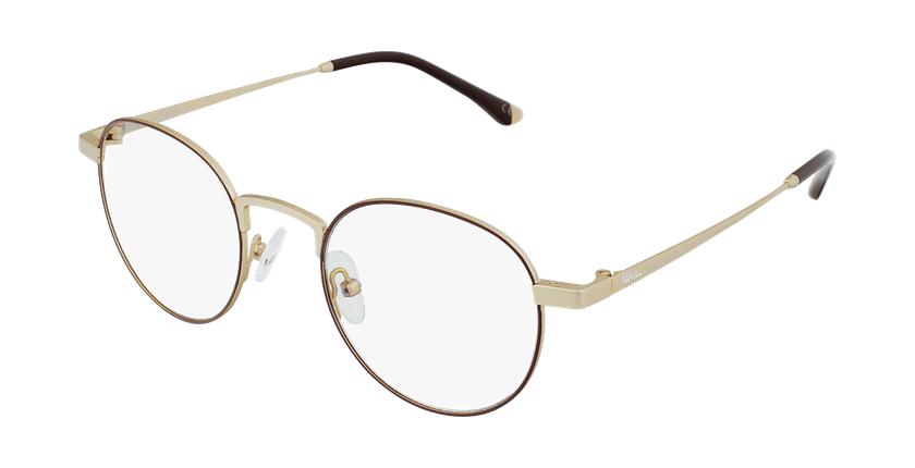 Gafas graduadas MAGIC 70 rojo/dorado - vue de 3/4