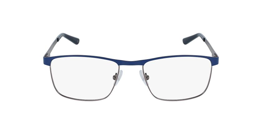 Gafas graduadas hombre GUIDO azul/plateado - vista de frente