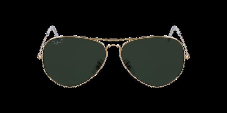 Gafas de sol AVIATOR LARGE METAL dorado/negrovista de frente