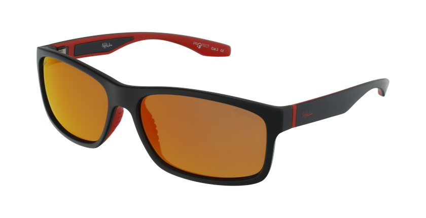 Gafas de sol DUSTIN POLARIZED negro/rojo - vue de 3/4