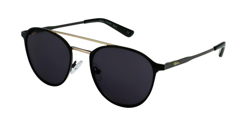 Gafas de sol MAC negro/dorado - vue de 3/4