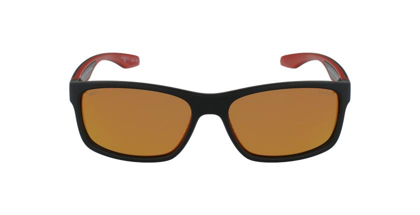 Gafas de sol DUSTIN POLARIZED negro/rojo - vista de frente
