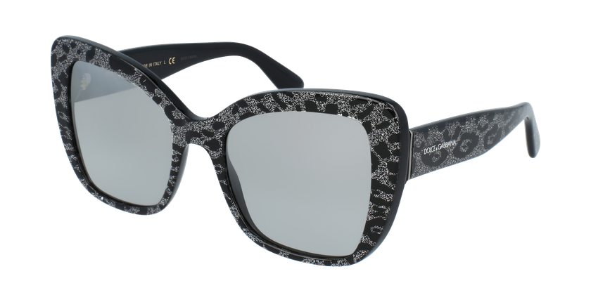 Gafas de sol mujer 0DG4348 negro - vue de 3/4