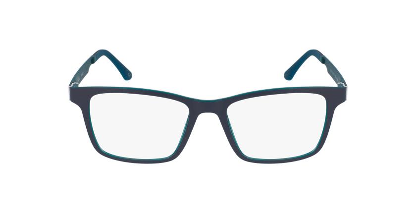 Gafas graduadas hombre MAGIC 01 gris/gris oscuro mate / azul petróleo - vista de frente
