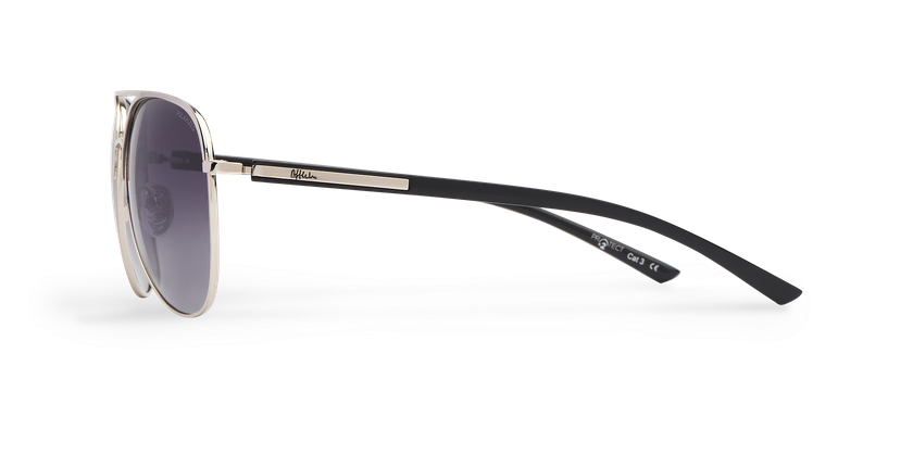 Gafas de sol MIAMO POLARIZED plateado/negro - vista de lado