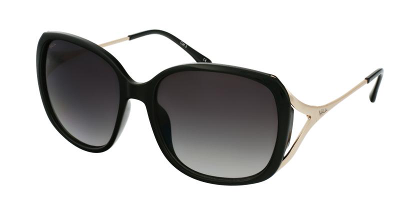 Gafas de sol mujer ROSALES negro/dorado - vue de 3/4