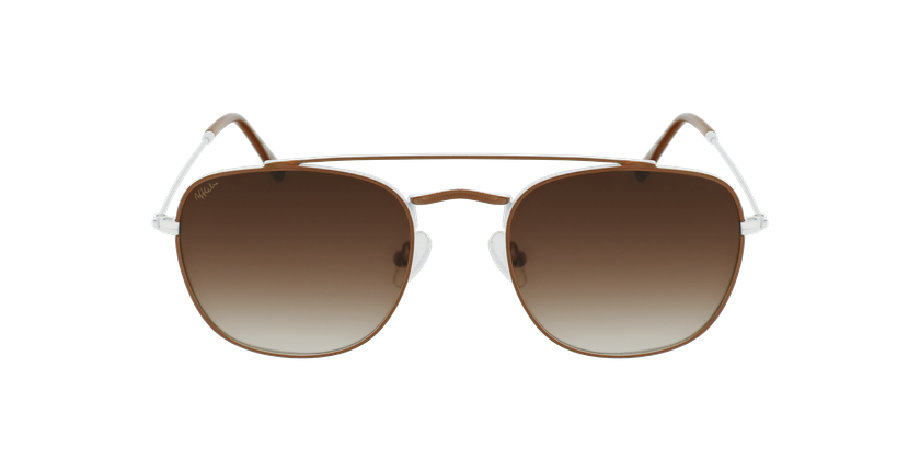 Gafas de sol hombre TOSSA marrón/blanco - vista de frente