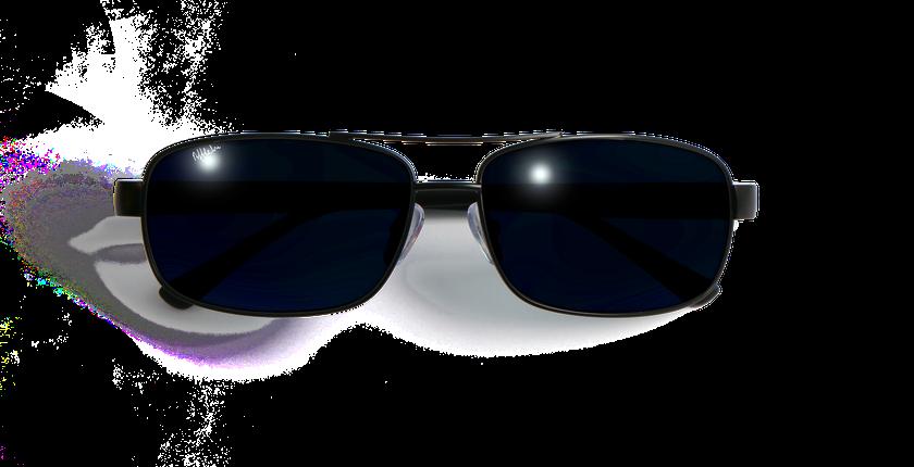 Gafas de sol hombre ALFREDO negro - vista de frente