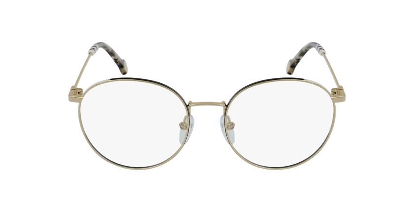 Gafas graduadas mujer VHE167 dorado/negro - vista de frente