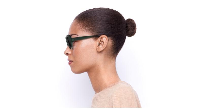 Gafas de sol mujer FAURA verde/negro - vista de lado
