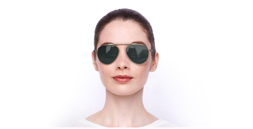 Gafas de sol JULIAN POLARIZED dorado - vista de frente